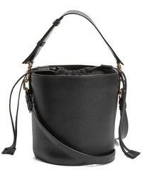 JW Anderson - Bucket Leather And Canvas Tote - Lyst