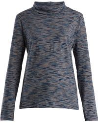 A.P.C. | High-neck Space-dye Cotton-jersey Top | Lyst