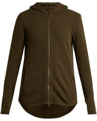 ATM - Zip-through Cotton-jersey Hooded Sweater - Lyst
