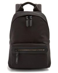 Lanvin - Leather-trimmed Canvas Backpack - Lyst