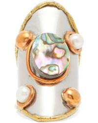 Sylvia Toledano - Abalone And Pearl Embellished Ring - Lyst