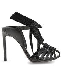 Saint Laurent - Majorelle & Mansour Leather Sandals - Lyst