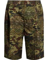 Givenchy - Camouflage Dollar-print Taffeta Shorts - Lyst