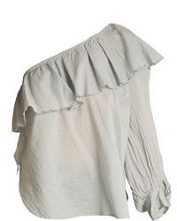 Apiece Apart - Bergamot One Shoulder Cotton Voile Top - Lyst