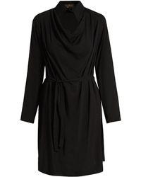 Vivienne Westwood Anglomania - Tondo Cowl-neck Draped Dress - Lyst