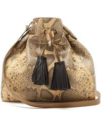 Isabel Marant - Beeka Snake Effect Leather Bucket Bag - Lyst
