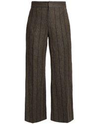 Isabel Marant - Keroan Striped Flared Cropped Trousers - Lyst