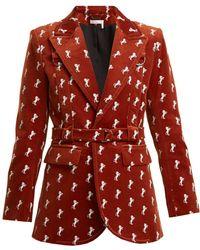 Chloé - Horse-embroidered Cotton-blend Velvet Jacket - Lyst