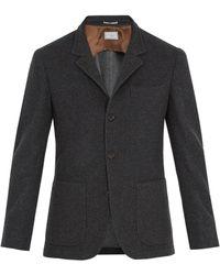 Brunello Cucinelli - Patch-pocket Brushed-cashmere Blazer - Lyst