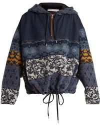 See By Chloé - Patchwork Hooded Jacket - Lyst
