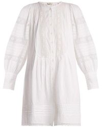 Sea - Lace-trimmed Cotton Tunic Dress - Lyst