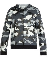 Valentino - Camouflage Print Hooded Sweatshirt - Lyst