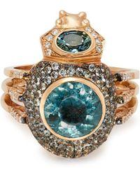 Daniela Villegas - Odysseus 18kt Gold, Tourmaline & Sapphire Ring - Lyst
