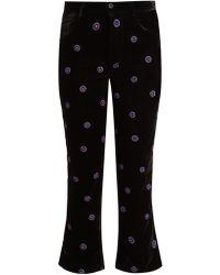 Jupe by Jackie - Magia Slim Leg Silk Velvet Trousers - Lyst