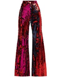 Halpern - Sequined Flared Trousers - Lyst