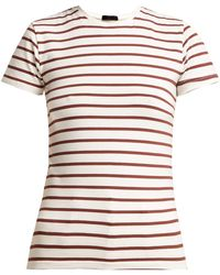 ATM - Pima Cotton Striped Tee - Lyst