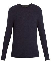 Rag & Bone - Giles Crew-neck Ribbed-knit Wool Sweater - Lyst