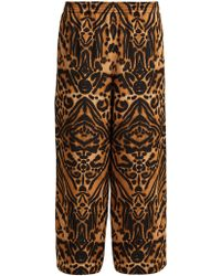 Raey - Tiger Print Silk Cady Pyjama Trousers - Lyst