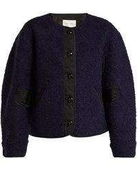 Proenza Schouler - Contrast-panel Fleece Jacket - Lyst