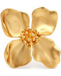 Oscar de la Renta - Brushed Flower Ring - Lyst