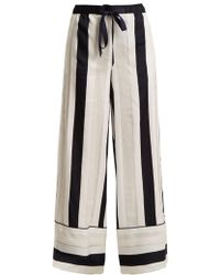 Adam Lippes - Striped Jacquard Trousers - Lyst