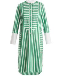 Maison Rabih Kayrouz - Striped Cotton-poplin Shirtdress - Lyst