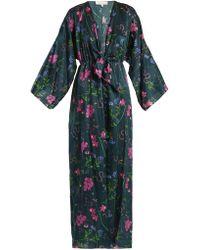 Borgo De Nor - Elsa Cotton Silk Open Sleeves Dress - Lyst