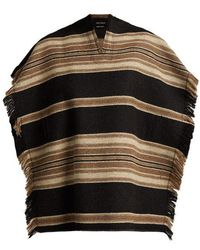 Isabel Marant - Hollis Wool Blend Poncho - Lyst