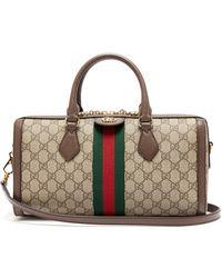 Gucci - Ophidia Boston Gg Supreme Logo Bag - Lyst