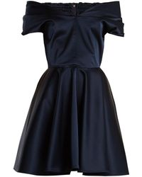 Emilio de la Morena - Tamara Off-the-shoulder Stretch-silk Dress - Lyst