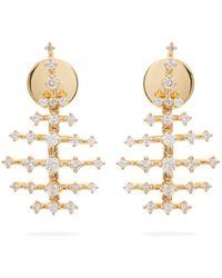 Fernando Jorge - Mini Disco 18kt Gold & Diamond Earrings - Lyst