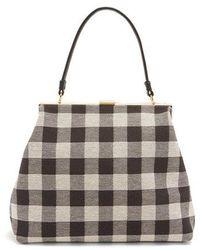 Mansur Gavriel - Checker Elegant Top-handle Canvas Bag - Lyst