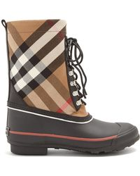 Burberry - House-check Rain Boots - Lyst