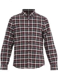 Acne Studios - Isherwood Point-collar Checked Cotton Shirt - Lyst