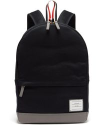 Thom Browne - Twill And Pebbled Leather Backpack - Lyst