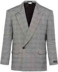 Vetements - Houndstooth Double Breasted Blazer - Lyst