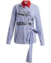 Prada - Comic Print Cotton Poplin Shirt - Lyst