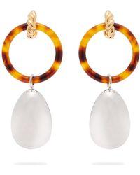 Balenciaga Round Licence Crystal Earring