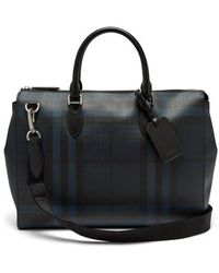 Burberry - London-check Leather Tote - Lyst