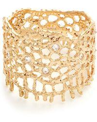 Aurelie Bidermann | Diamond & Yellow-gold Ring | Lyst