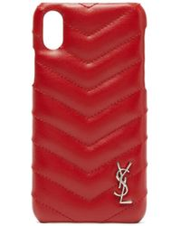 Saint Laurent - Lou Quilted Leather Iphone® Xs Phone Case - Lyst