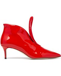 Christopher Kane - C String Leather Ankle Boots - Lyst