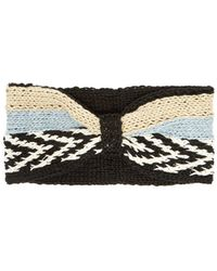 Missoni Striped Knitted Headband - Black
