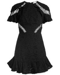 Zimmermann - Flutter Broderie-anglaise Cotton Dress - Lyst