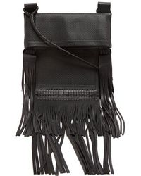 Saint Laurent - Fringed-leather Cross-body Bag - Lyst