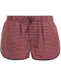 The Upside - Rum And Raisin Linen Blend Shorts - Lyst