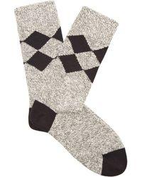 Burberry - Diamond-knit Cotton Socks - Lyst