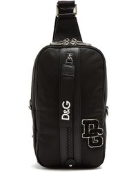 Dolce & Gabbana | College Logo Patch One-strap Backpack | Lyst