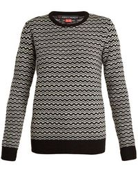 Perfect Moment - Frequency Zigzag-intarsia Wool Sweater - Lyst