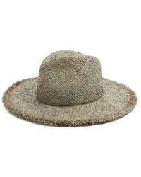 Lola Hats - Large Dad's Frayed-edged Straw Hat - Lyst